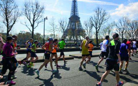 Get a different perspective on Paris during the Paris Marathon
